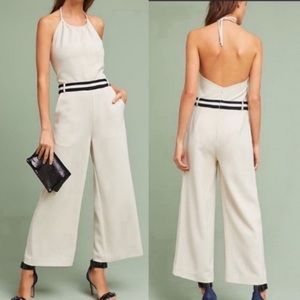 NWT-Sporty Chic Anthro Wide Leg Halter Jumpsuit